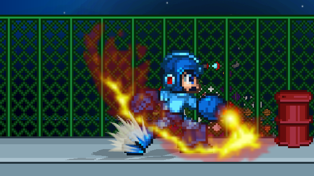 Mega Man has brand new effects to go with his sprites!