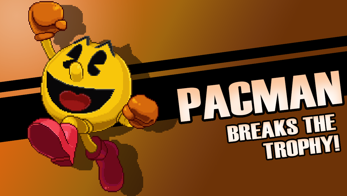 It's Pac Man! An assist trophy couldn't hold him back.