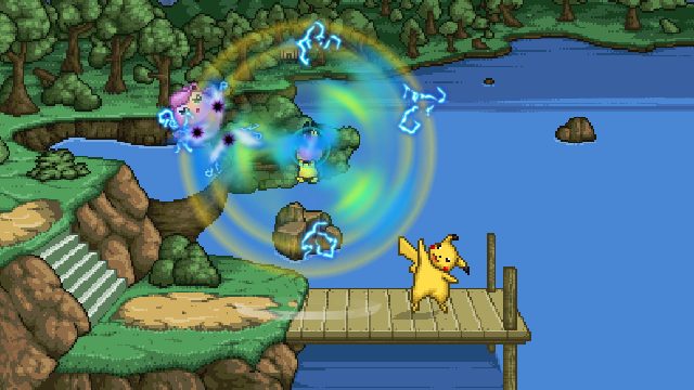 "Pichu will jump up and shock anyone nearby with a powerful ""Thunder Wave""."